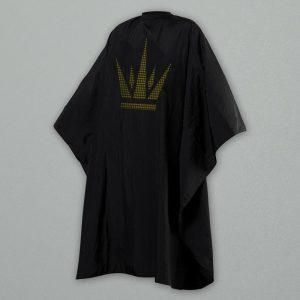 Capa de Corte Negra Corona Barberalia en Oro